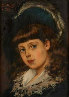 Leon Herbo, 1850-1907. Amber Tree, Painting For Kids, Children Painting, History, Art, Portraits, Paint, Hat, Daughter
