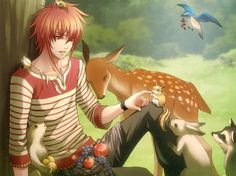 ;;)Fantasy anime boy dream