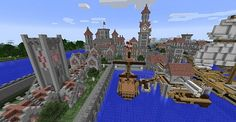 Castle Island with village Minecraft Project