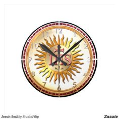 Jesuit Seal Round Clocks | 60 OFF Clocks | Up to 50% OFF everything else | Use code CRAZYWEEKEND during checkout. Offer is valid through November 29, 2015 11:59PM PT.