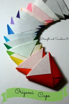 The Origami Cup | Strength and Sunshine #crafts #diy #origami