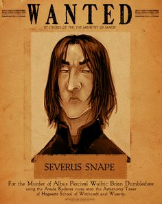 Severus Snape. (I don't know who drew this, so I can't credit it properly, but apparently it's at least 5 years old) We spend the entire Harry Potter series thinking he's a bad guy, but in the end, he did it all for love.
