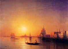 "Ivan Aivazovsky (1817-1900) ""Venice"" (1874) Oil on canvas Romanticism"