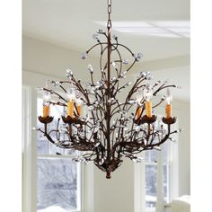 Antique Bronze 6-light Crystal and Iron Chandelier | Overstock™ Shopping - Great Deals on Chandeliers & Pendants