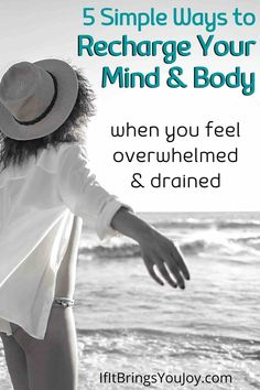 Anxiety is in the air and it can be draining. Recharge yourself! Tips how to recharge your mind and body so you are ready to make the best of challenging times. Simple ways to recharge and feel good. #recharge