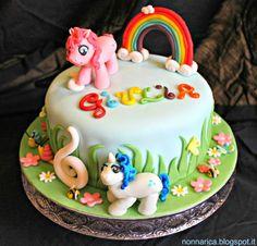 "Torta ""My Little Pony"" in pasta di zucchero | Nonna Rica"