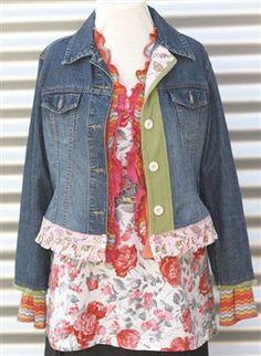 REinventing my Wardrobe - Media - Sew Daily  jacket redo ***She is my FAVORITE clothing Refashionista!****