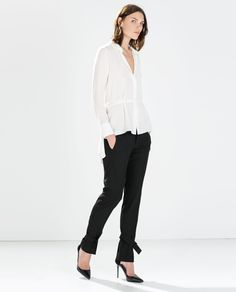 Image 1 of STUDIO RIBBON TROUSERS from Zara