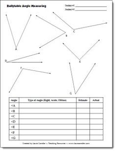 Free Partner Angle Measuring Activity - CCSS Aligned:4.MD.C.6 Measure angles in whole-number degrees using a protractor. Sketch angles of specified measure.