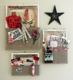 Canvas wall pockets