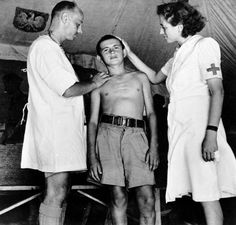 A Polish evacuee undergoes a medical checkup, probably in Persia, 1942 (Courtesy of The Polish Institute & Sikorski Museum - London)