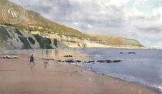 Frank Eber - Last Catch of the Day - California art - fine art print for sale, giclee watercolor print - Californiawatercolor.com