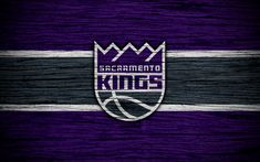 Download wallpapers 4k, Sacramento Kings, NBA, wooden texture, basketball, Western Conference, USA, emblem, basketball club, Sacramento Kings logo