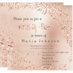 Birthday Party Wreath Glitter Rose Gold Gray Flora Card - birthday cards invitations party diy personalize customize celebration