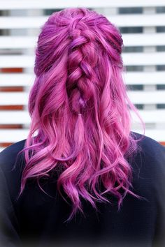 #hair #ombre #violethair #pinkhair