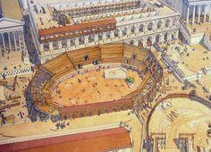 Italy - Roma (Rome) - Republic under Caesar - Amphitheater