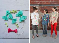 Bow Tie Necklace DIY; a mini one of these would be cute
