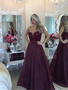 Prom Dresses 2016 burgundy maroon prom dresses scoop a line chiffon with sash and applique , You will find many long prom dresses and gowns from the top formal dress designers and all the dresses are custom made with high quality Gold Evening Dresses, Beaded Evening Gowns, Prom Dresses 2016, Beaded Prom Dress, Mermaid Prom Dresses, Dress Prom, Party Dress, Prom Gowns, Bridesmaid Gowns