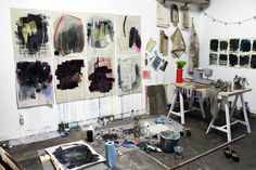 """Heather Day, Artist, """"home in the studio"""""""