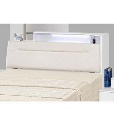 菲雪5尺白色亮烤雙人床頭箱