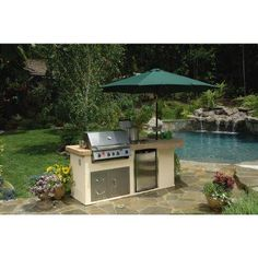 outdoor kitchen gas grills smoker bullet aspen ii outdoor kitchen island with 4burner natural gas grill in stainless steel100060825 the home depot 305 best grills cooking images on pinterest 2018