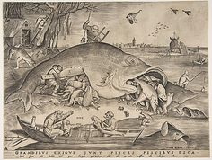 Big Fish Eat Little Fish Pieter van der Heyden  (Netherlandish, ca. 1525–1569) Architect: After Pieter Bruegel the Elder (Netherlandish, Breda (?) ca. 1525–1569 Brussels) Publisher: Hieronymus Cock (Netherlandish, Antwerp ca. 1510–1570 Antwerp) Date: 1557