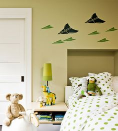 Paper airplane wall decal wall decals for kids rooms http://www.jambic.com/funny-wall-decals-kids-rooms/