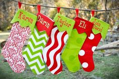 Christmas Stockings I'd really love to make this year.