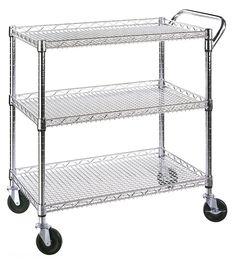 Seville Classics 3 Shelf Commercial Utility Cart