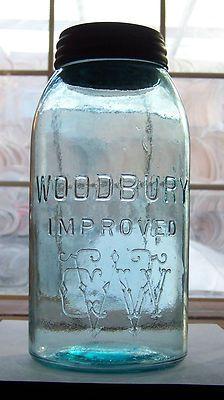 @Cristina Marie~Woodbury Improved WGW Half Gallon, Antique Canning Jar.