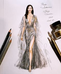 - Fashion Illustrations by Natalia Zorin LiuYou can find illustration fashion design and more on our website.- Fashion Illustrations by Natalia Zorin Liu Dress Design Sketches, Fashion Design Sketchbook, Fashion Design Drawings, Fashion Sketches, Fashion Drawing Dresses, Fashion Illustration Dresses, Fashion Dresses, Fashion Illustrations, Fashion Illustration Tutorial