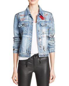 Foil Coated Patchwork Denim Jacket
