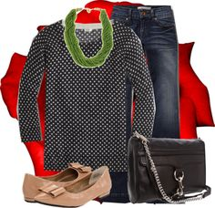 """""""bows and polka dots"""" by kittyscloset ❤ liked on Polyvore"""