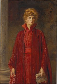 Portia (Kate Dolan), 1886 Sir John Everett Millais (English, 1829–1896) Oil on canvas; 49 1/4 x 33 in. (125.1 x 83.8 cm) Signed and dated (lower right): JEM [monogram] / 1886 Catharine Lorillard Wolfe Collection, Wolfe Fund, 1906 (06.1328)