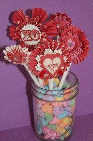 cute little table centerpieces #valentines