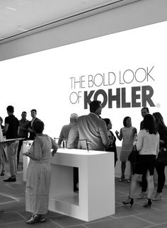 The scene at the NYC launch of KOHLER's new Composed Faucet Collection #kohlerideas #ad