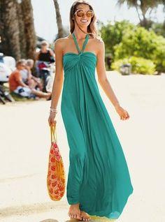 Uzun yazlık maksi elbise