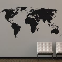 This detailed world map wall sticker is perfect for the well-travelled individual. This design comes complete with various sized positionable dots for marking your travels, or even planning your next trip! A great way to keep track of all the places you have visited to remember the good times. Suitable for a number of spaces in your home, such as living rooms, offices, play rooms, children's rooms, etc. The pack contains 1x large world measuring 232cm x 115cm and comes with over 100 dots...