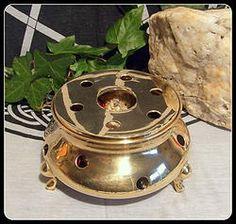 Vintage Solid Brass Charcoal Burner inc 25g resins