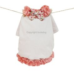 Louis Dog My Little Gentleman in Baby Peach - Shop By Designer - Louis Dog Collection - Clothes Posh Puppy Boutique