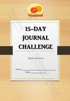 15-day Journal Challenge by Gladdebek