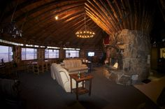 Interior of the Downing Mountain Lodge Yurt