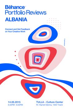 Behance Portfolio Review ALBANIA on Behance #graphicdesign #poster #illustration #colorful