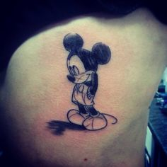 Mickey mouse tattoos are a great way to preserve the magic of the childhood presented by Walt Disney since 1928 and connect with your inner child. Mickey Tattoo, Mickey Mouse Tattoos, Disney Tattoos, Family Tattoos, Tattoos For Kids, Small Tattoos, Temporary Tattoos, Neck Tattoos, Sleeve Tattoos
