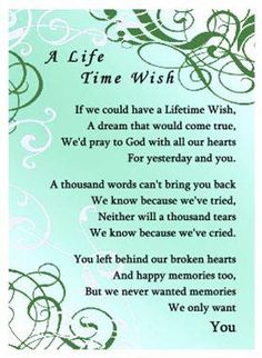 Words no truer spoken from a grieving daddy's girl!!