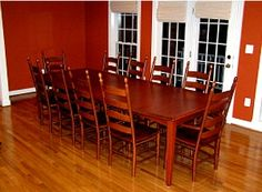 Hardwood Dining Table Guide - When Buying A Hardwood Dining Table Insist On. Custom Dining Tables, Ladder Back Chairs, Extension Dining Table, Amish Furniture, Shaker Style, Dinner Table, Hanover Maryland, Hardwood, Dining Room