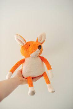 Gordon the Fox // Handmade Children's Toy by BoolahBaguette