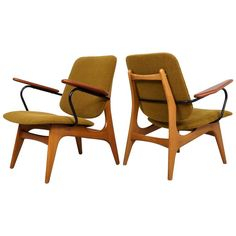 1960s Dutch Modernist Easy Chairs, Set of Two | 1stdibs.com