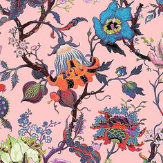 @mag.gieshep.herd Floral pattern on a pink ground Source: Gert Voorjans @voorjans #gertvoorjans #voorjans #designer #textiles #pattern #pink #decor #decorative #art #stilllife #study #illustration #floral #flowers #nature #natural #botanical #botany #garden #gallery #wildflowers #interiordecor #interiordesign