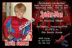 Spiderman Tingle Birthday Invitations   Get these invitations RIGHT NOW. Design yourself online, download and print IMMEDIATELY! Or choose my printing services.   No software download is required. Free to try!